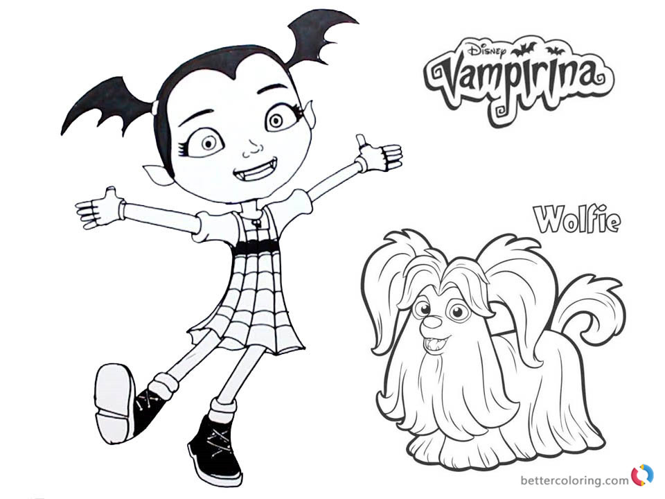 Vampirina Coloring Pages  Vampirina coloring pages Vampirina and Wolfie Free