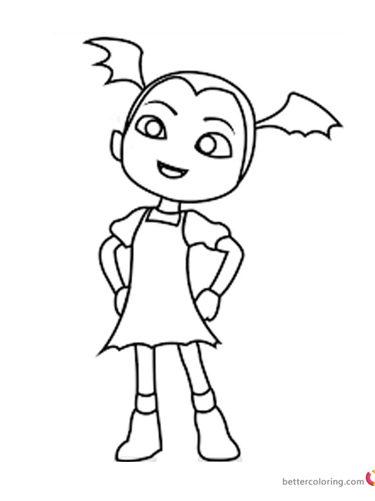 Vampirina Coloring Pages  Vampirina coloring pages fan art Free Printable Coloring