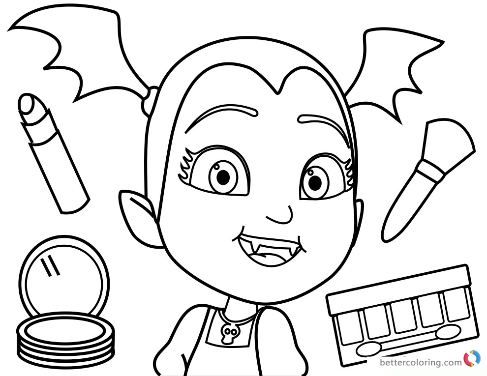 Vampirina Coloring Pages  Vampirina coloring pages Makeup Free Printable Coloring