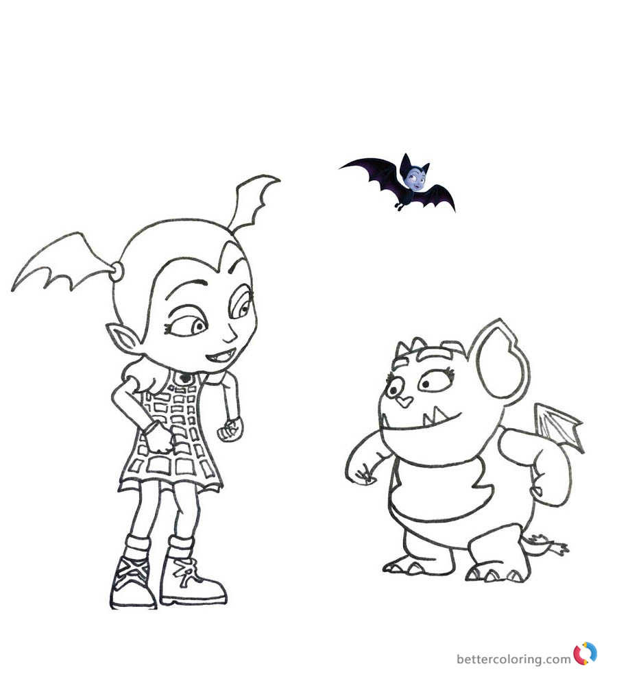 Vampirina Coloring Pages  Vampirina coloring pages Vampirina and Gregoria Free