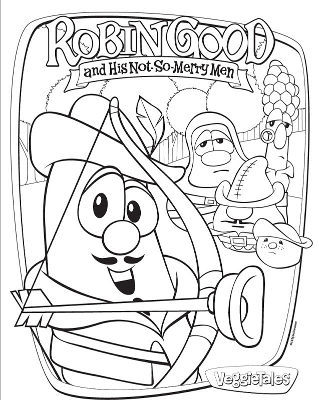 Veggietales Coloring Pages  veggie tales coloring pages printable gianfreda