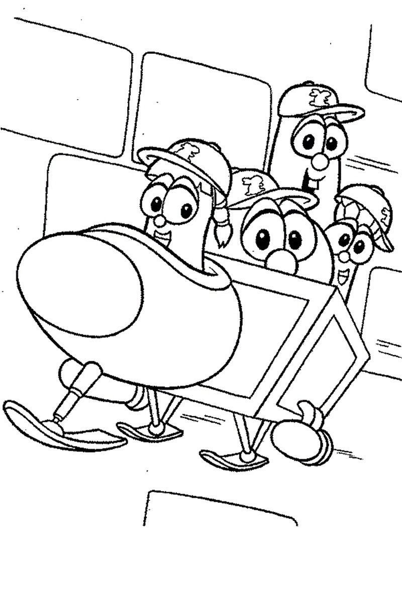 Veggietales Coloring Pages  Veggietales Coloring Sheets Printable Coloring Pages