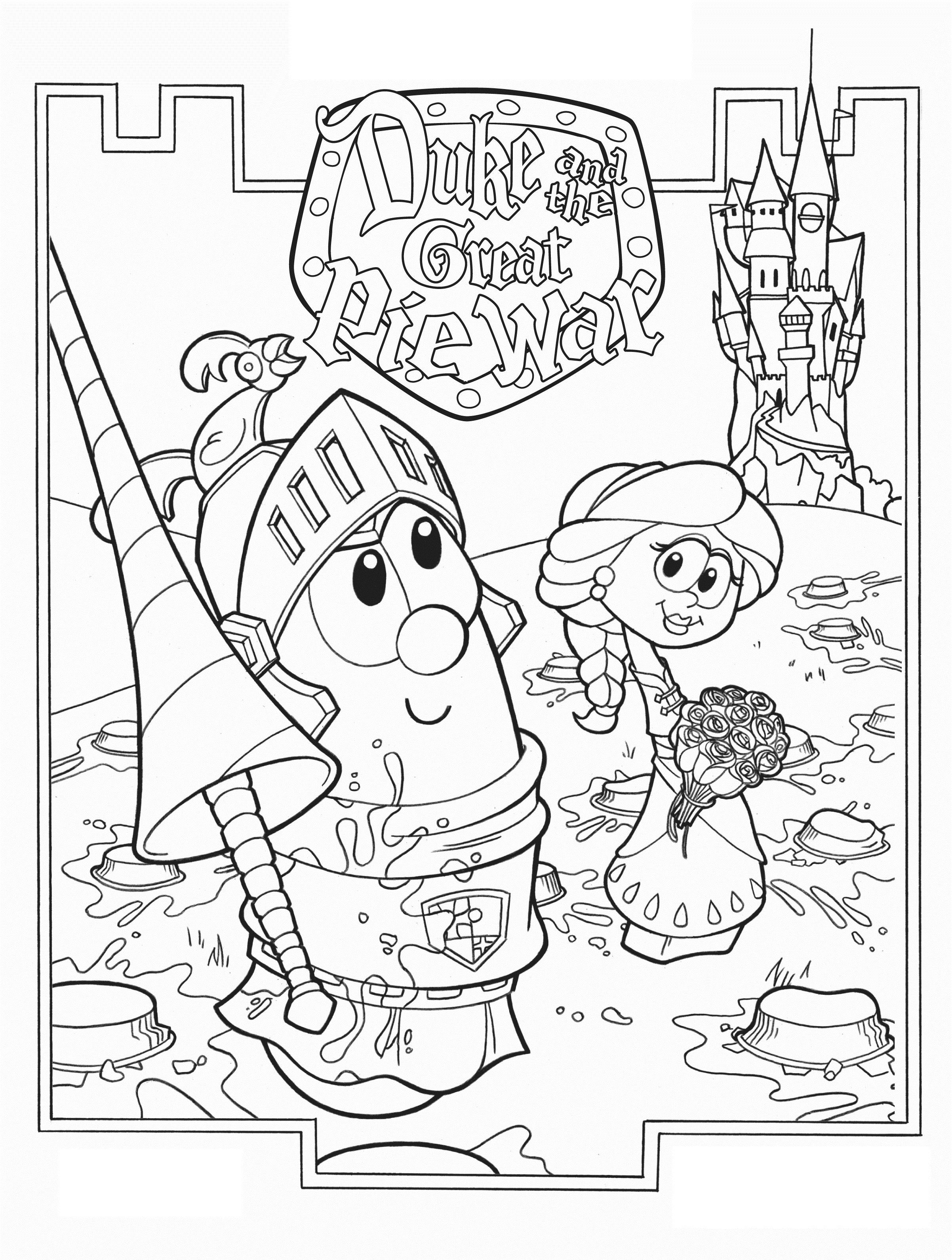 Veggietales Coloring Pages  Free Printable Veggie Tales Coloring Pages For Kids