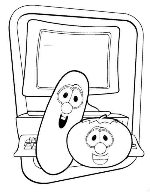 Veggietales Coloring Pages  Veggie Tales Coloring Pages For Kids Disney Coloring Pages