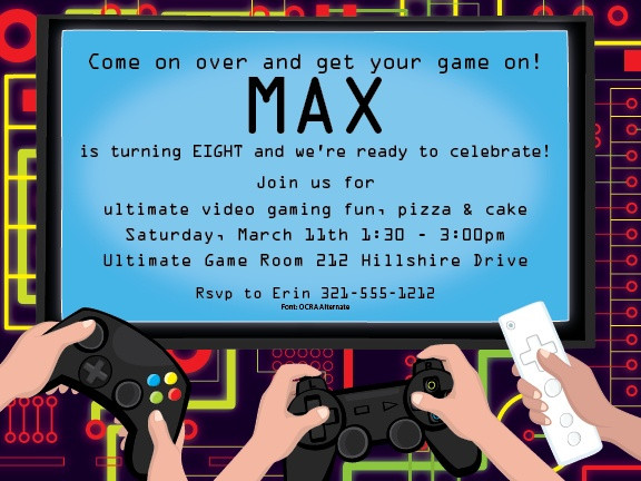 Best ideas about Video Game Birthday Invitations . Save or Pin 1000 images about Kids Party Invitations on Pinterest Now.