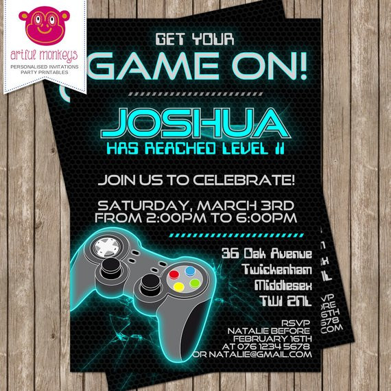 Best ideas about Video Game Birthday Invitations . Save or Pin Printable Video Game Party Invitation Now.