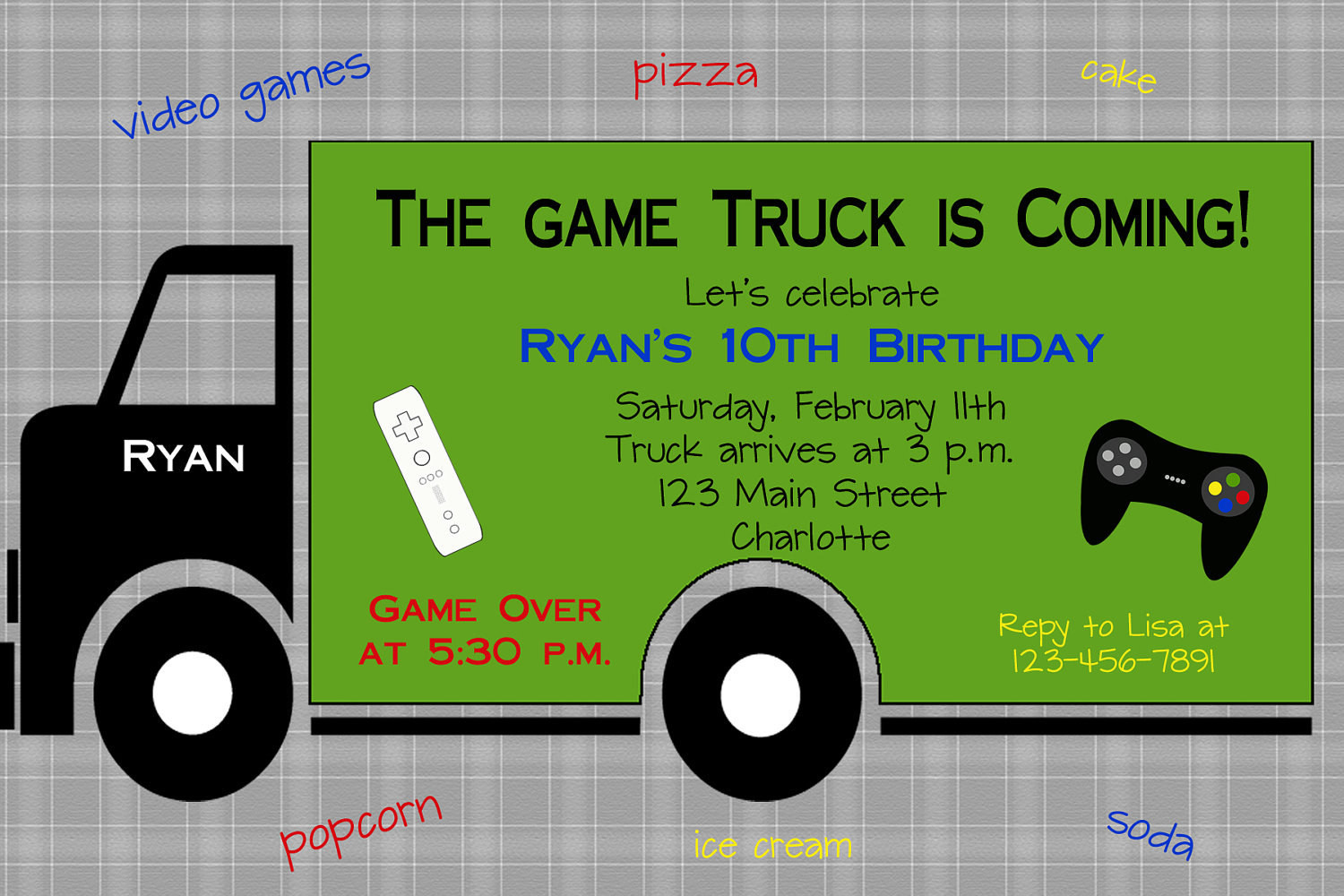 Best ideas about Video Game Birthday Invitations . Save or Pin Boys Party Ideas GameTruck on Pinterest Now.