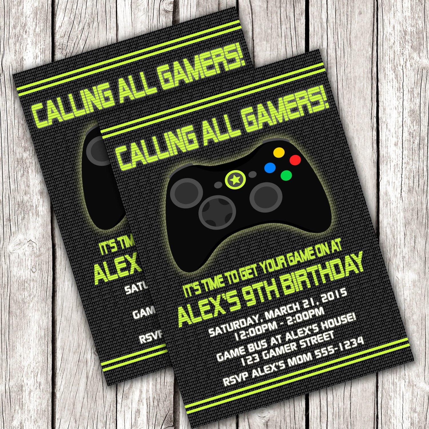 Best ideas about Video Game Birthday Invitations . Save or Pin Gamer Invitation Video Game Birthday Party DIY Printable Now.