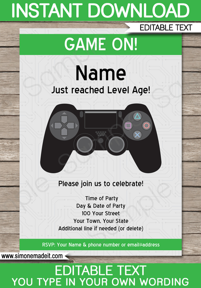 Best ideas about Video Game Birthday Invitations . Save or Pin Playstation Party Invitations Template Now.