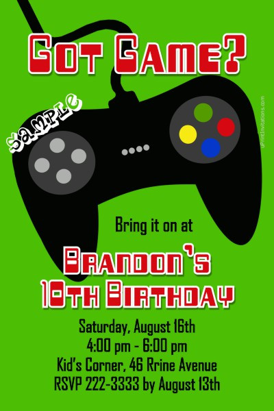 Best ideas about Video Game Birthday Invitations . Save or Pin Video Game Controller Birthday Invitations ALL COLORS Now.