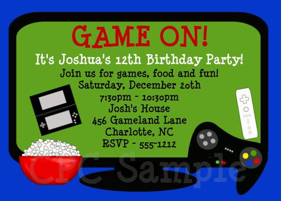 Best ideas about Video Game Birthday Invitations . Save or Pin Video Game Birthday Invitation Printable Party Invite Now.