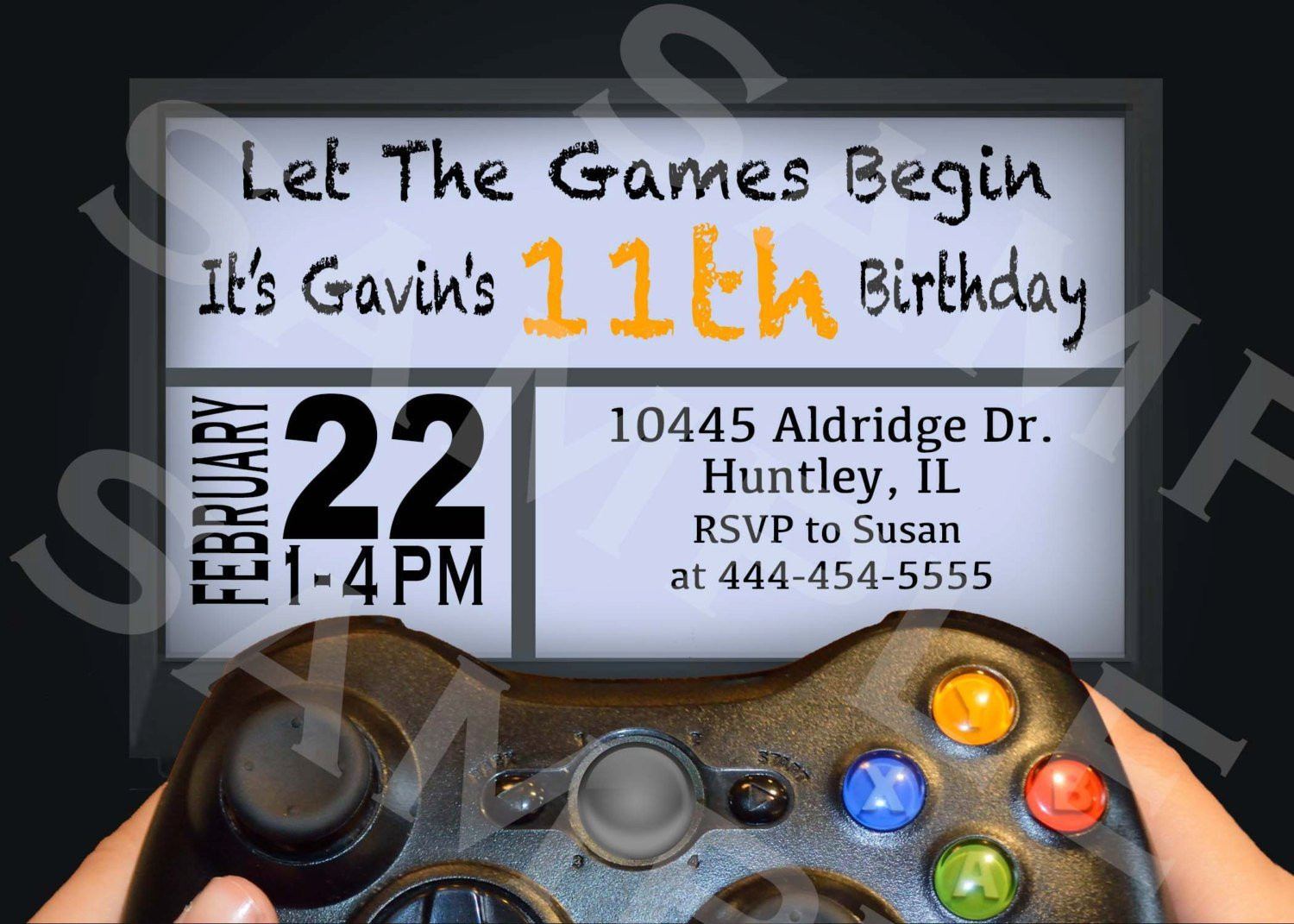Best ideas about Video Game Birthday Invitations . Save or Pin VIDEO GAME Birthday Party Invitation Gamer Theme Invitation Now.