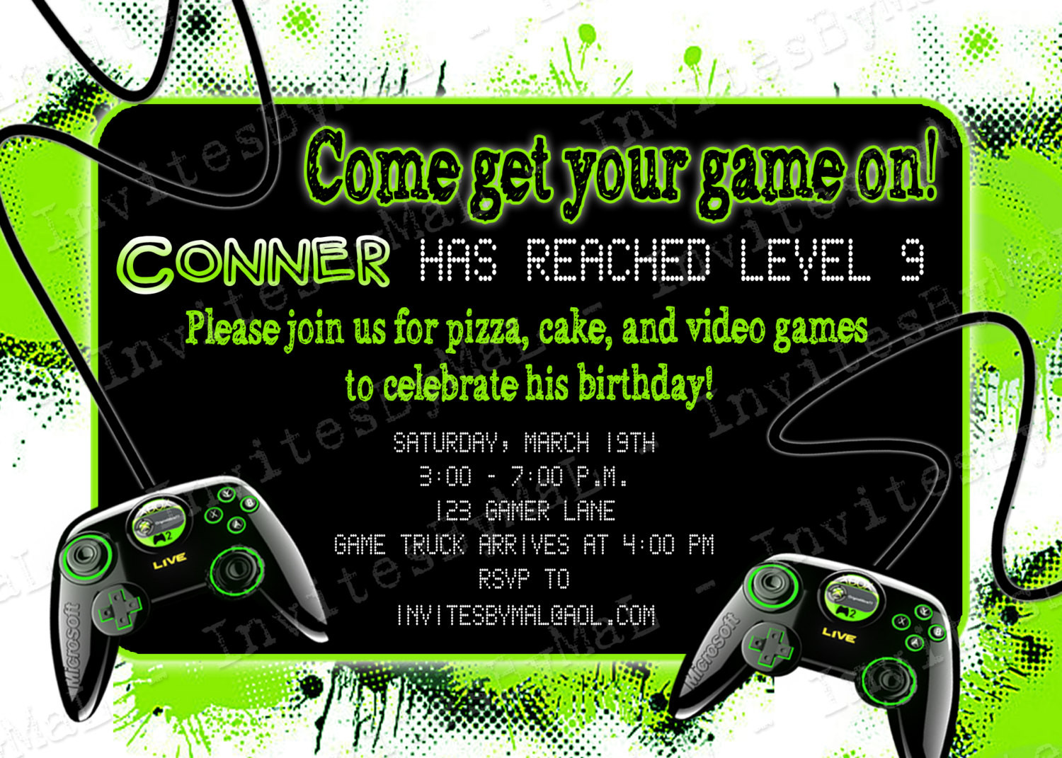 Best ideas about Video Game Birthday Invitations . Save or Pin Video Game Party Birthday Party Invitation with or by Now.