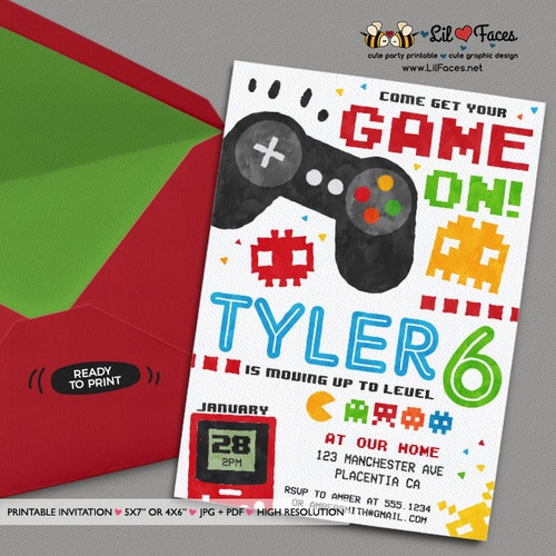 Best ideas about Video Game Birthday Invitations . Save or Pin Video Game Party Invitation Video Game Birthday Party Now.