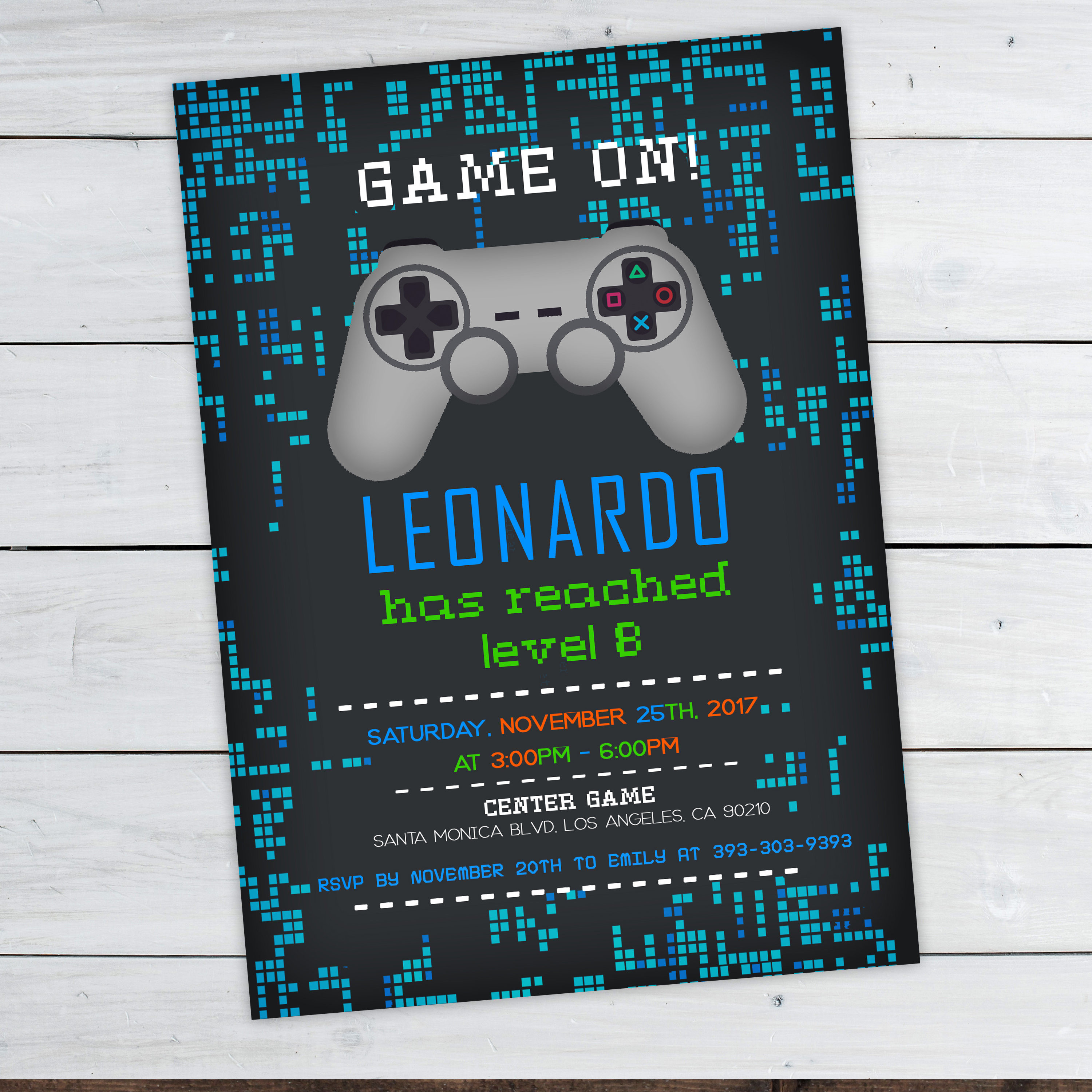 Best ideas about Video Game Birthday Invitations . Save or Pin Video Game Invitations Video Game Party Invitation Video Now.