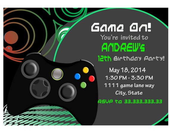 Best ideas about Video Game Birthday Invitations . Save or Pin Video Game Invite Game party Invitation gamer Video game Now.