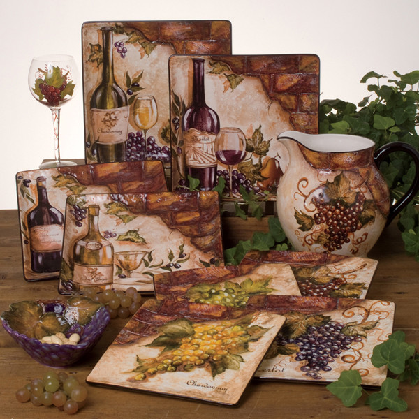 Best ideas about Vineyard Kitchen Decor . Save or Pin Tre Sorelle Home Designs Hand Painted Stone Tile Murals Now.