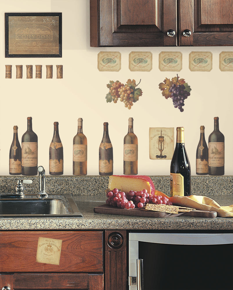Best ideas about Vineyard Kitchen Decor . Save or Pin WINE TASTING WALL DECALS Grapes & Bottles NEW Stickers Now.