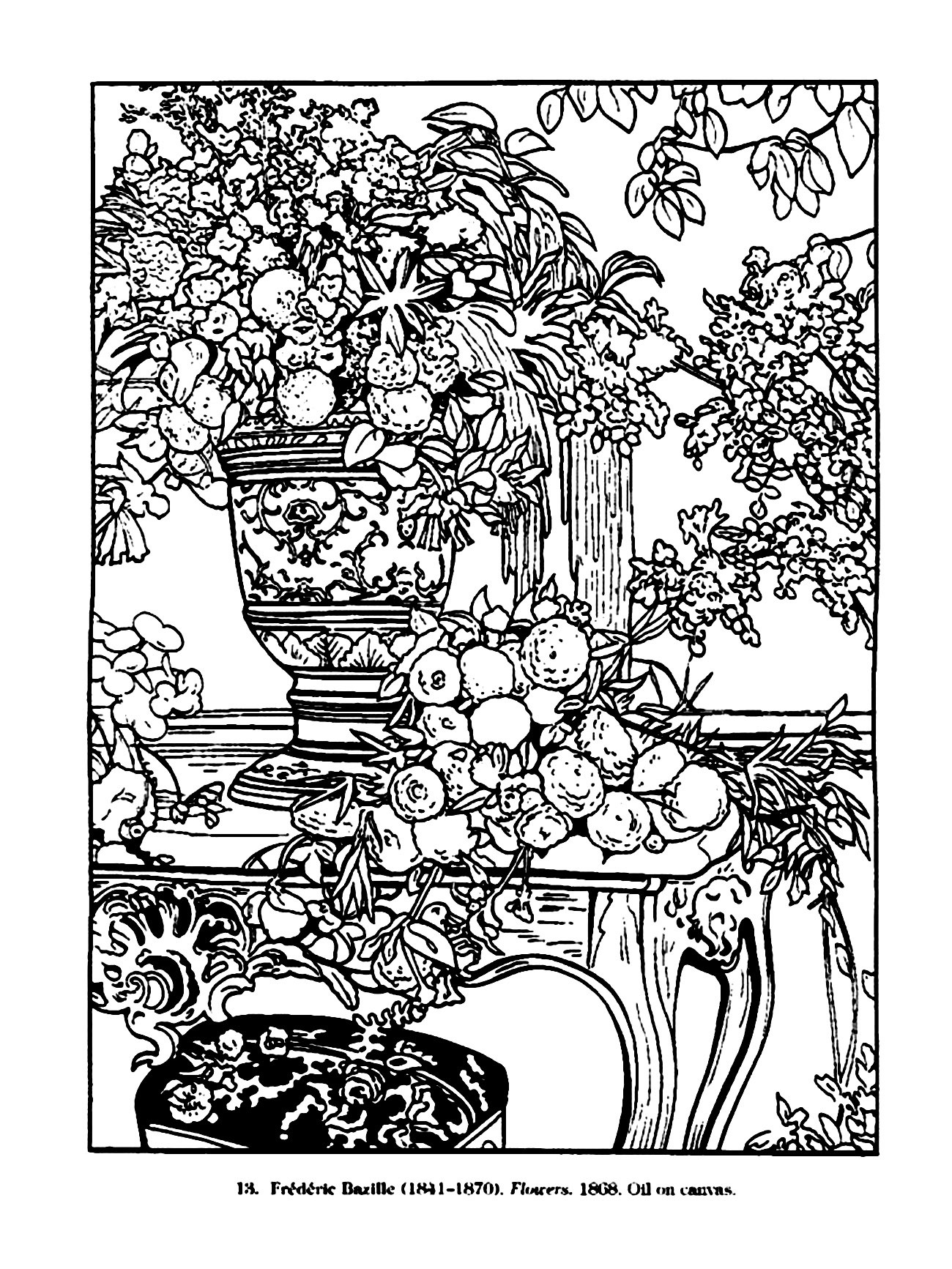 Vintage Coloring Book Pages  Vintage drawing Vintage Adult Coloring Pages