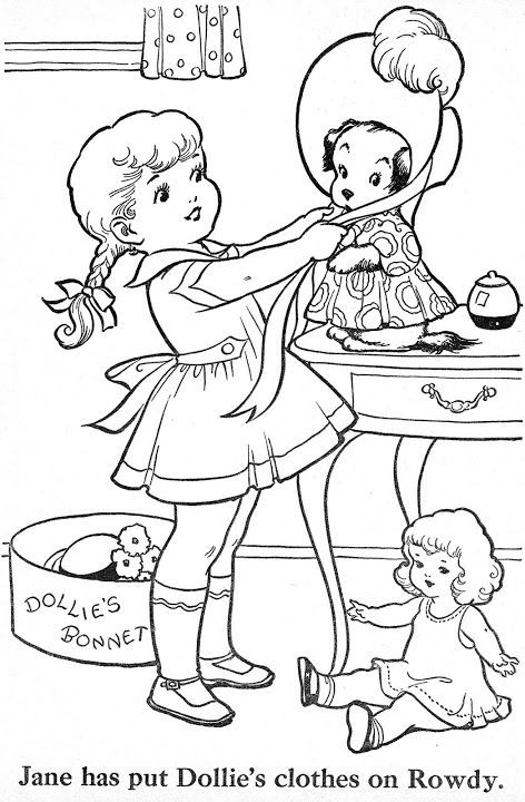 Vintage Coloring Book Pages  156 best images about VINTAGE COLORING BOOKS on Pinterest