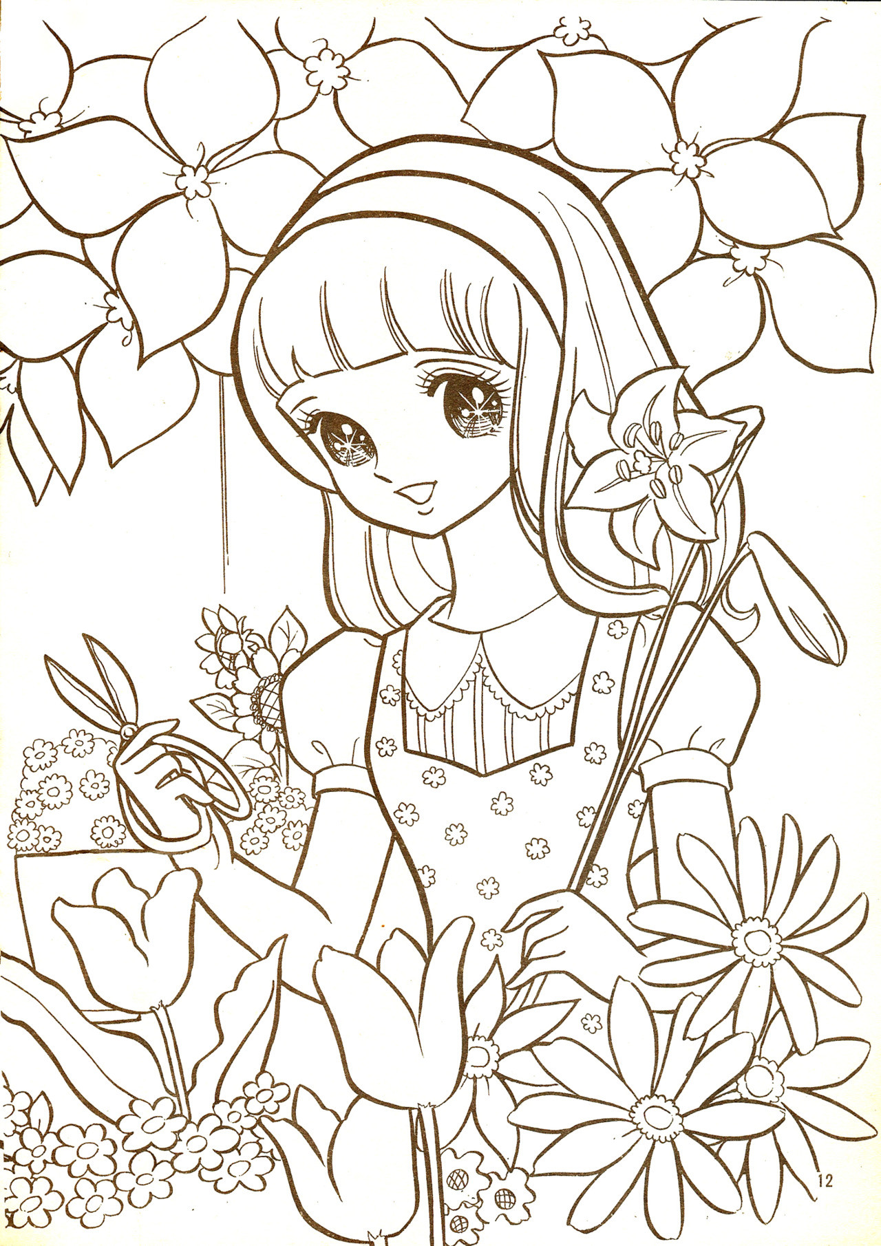 Vintage Coloring Book Pages  Pinterest Manga Coloring Books And Coloring Pages 7320