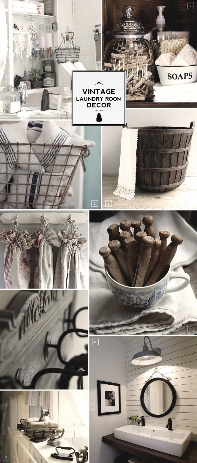 Best ideas about Vintage Laundry Room Decor . Save or Pin Style Guide Vintage Laundry Room Decor Ideas Now.