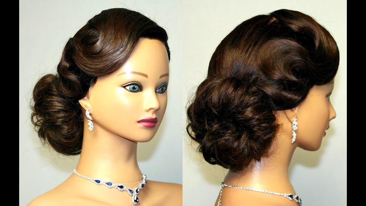 Vintage Updo Hairstyle  Vintage updo hairstyle for medium long hair