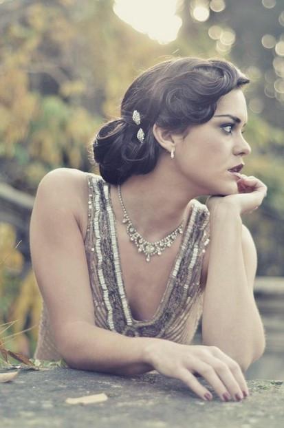 Vintage Updo Hairstyle  4 Glamorous Vintage Wedding Hairstyles Pretty Designs
