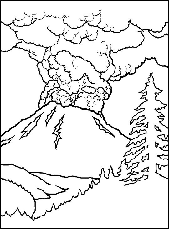 Volcano Coloring Pages  Free Printable Volcano Coloring Pages For Kids