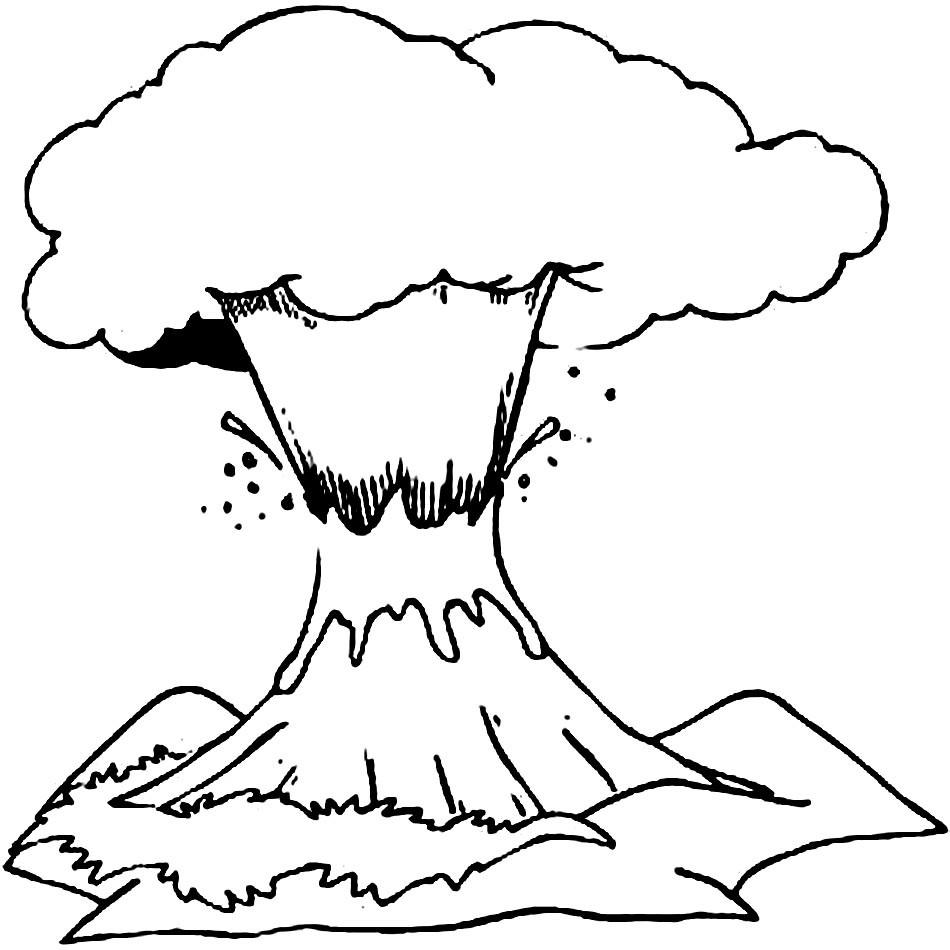 Volcano Coloring Pages  Volcanoe Free Colouring Pages