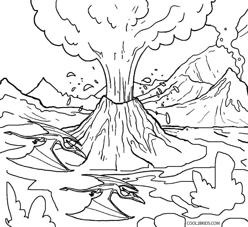 Volcano Coloring Pages  Printable Volcano Coloring Pages For Kids