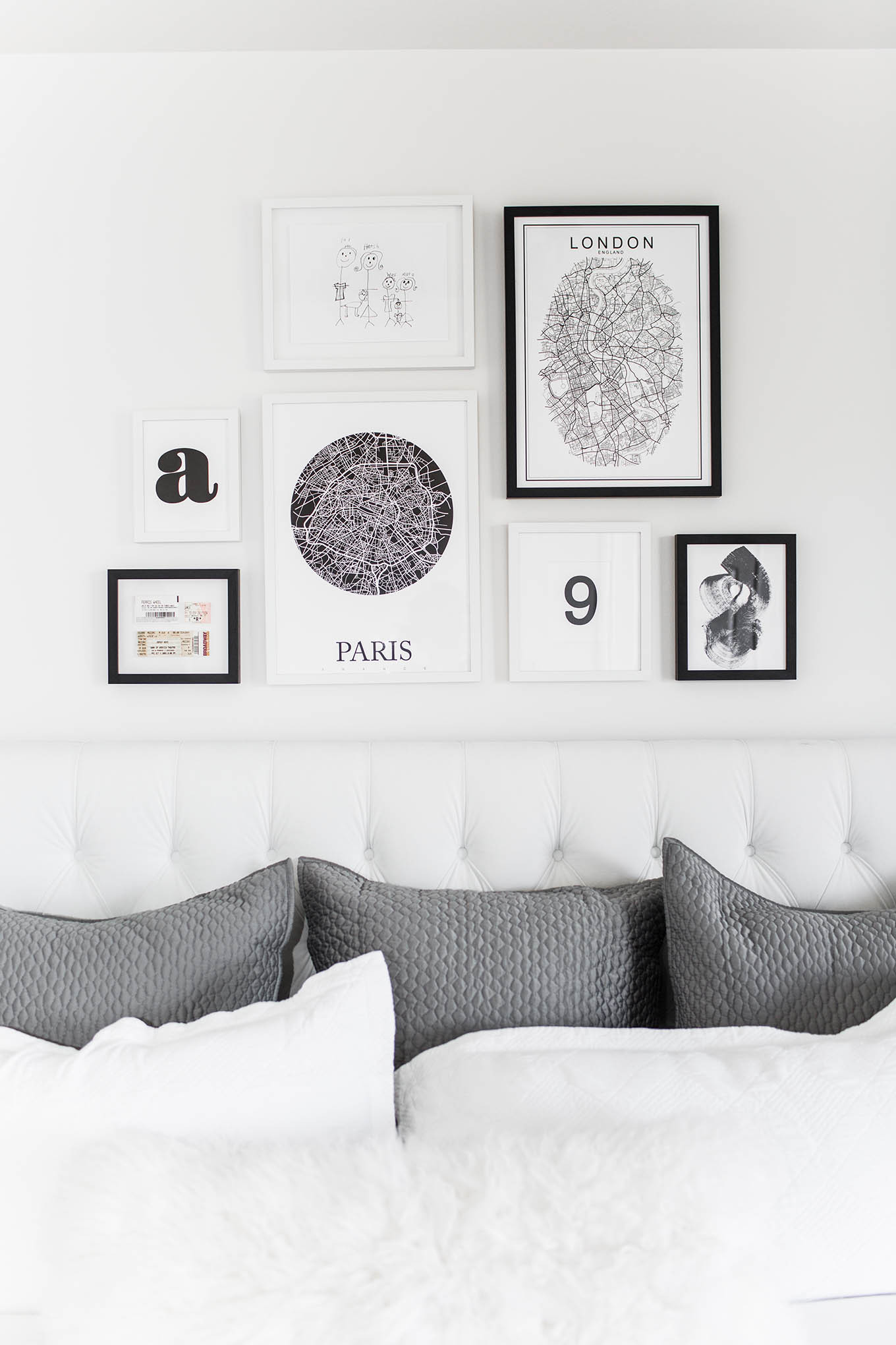 Best ideas about Wall Art Prints . Save or Pin Bedroom Gallery Wall Now.