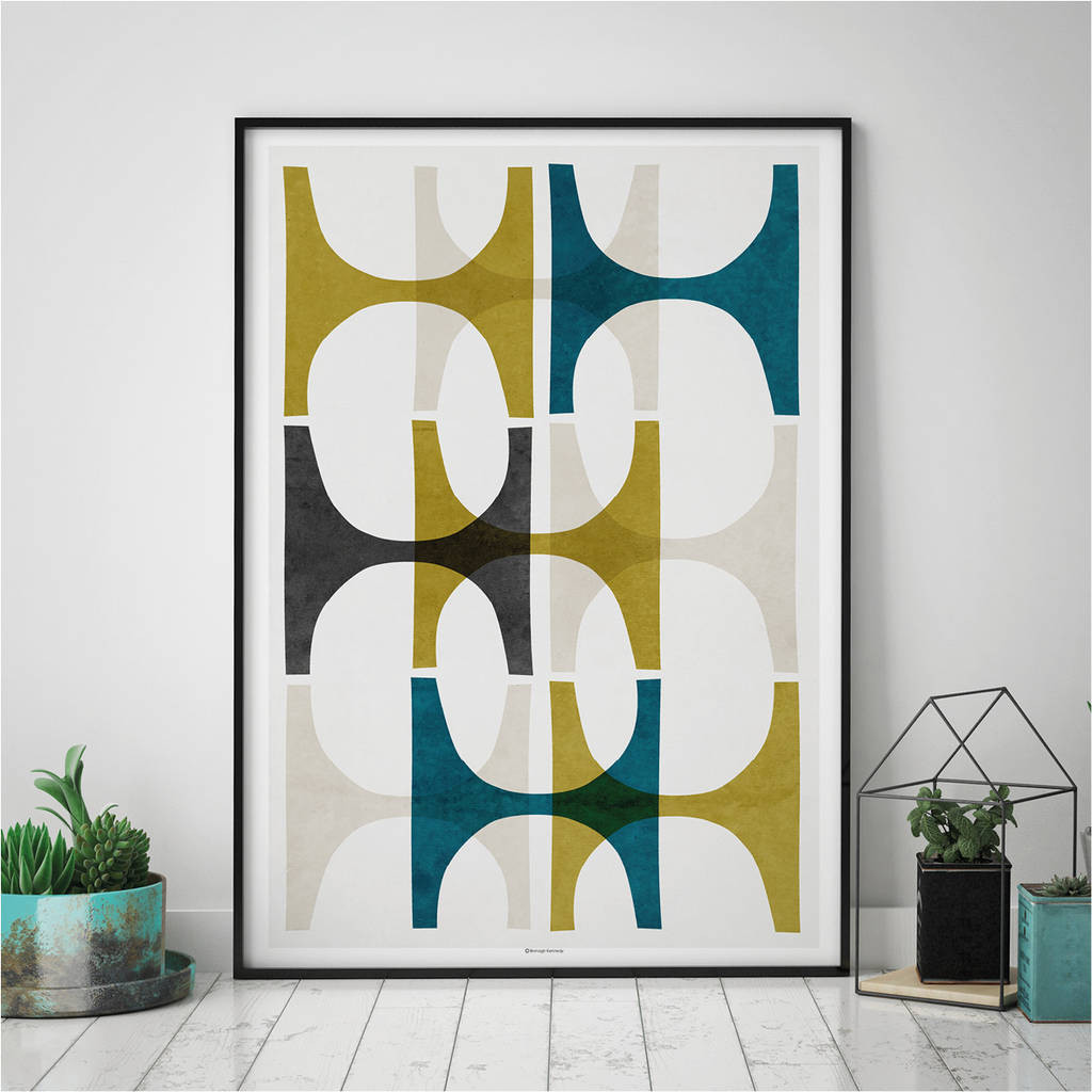 Best ideas about Wall Art Prints . Save or Pin abstract geometric wall art print by bronagh kennedy art Now.