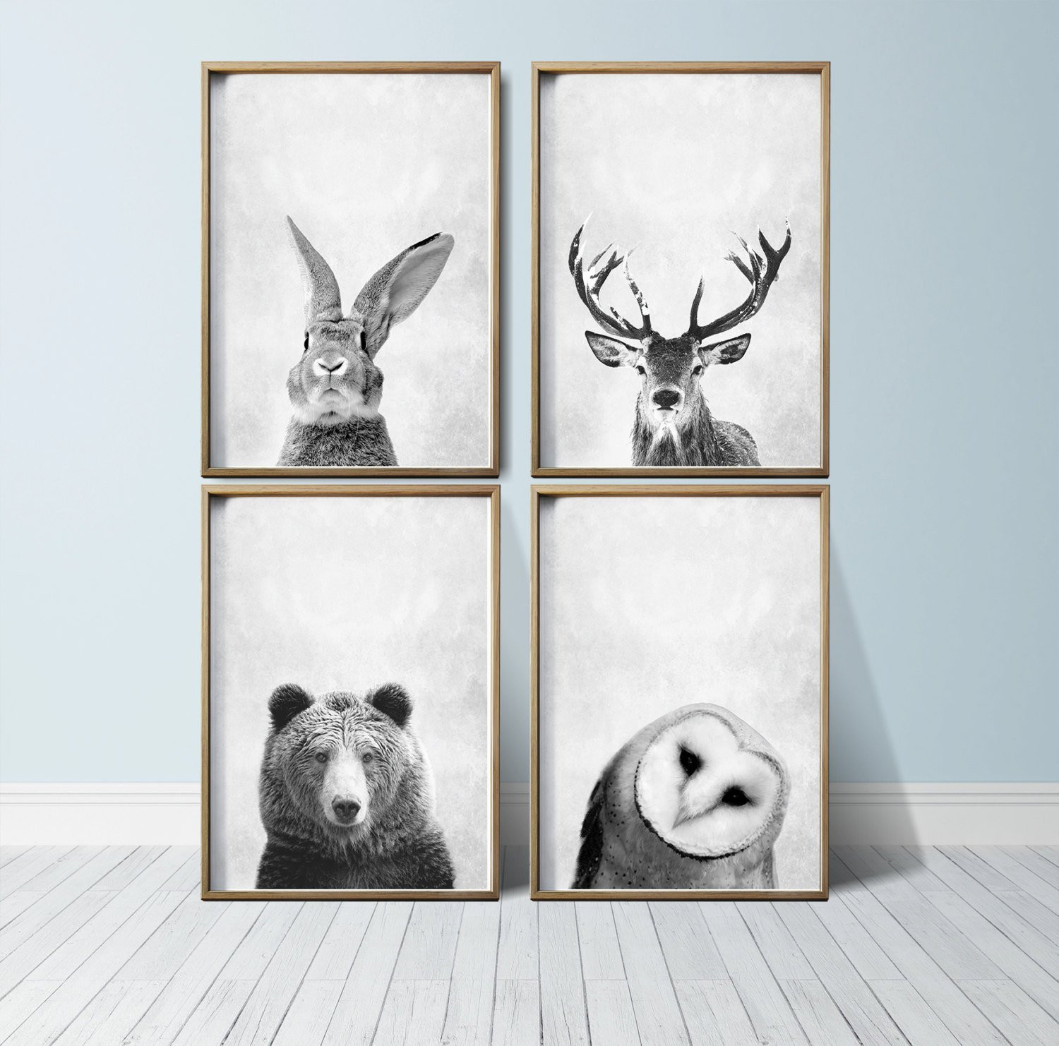 Best ideas about Wall Art Prints . Save or Pin Nursery Wall Art Animal Print Art Woodland Nursery Decor Now.