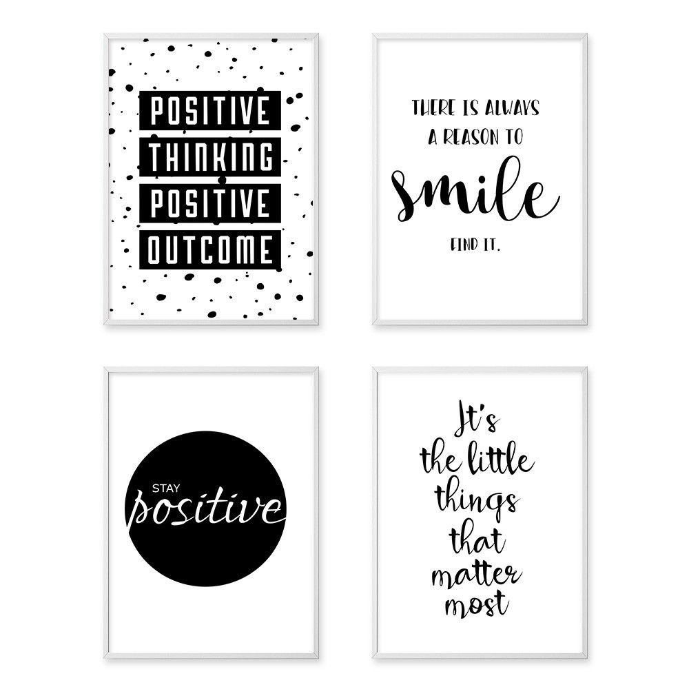 Best ideas about Wall Art Prints . Save or Pin Inspirational Quote Wall Art Canvas Posters Black White Now.
