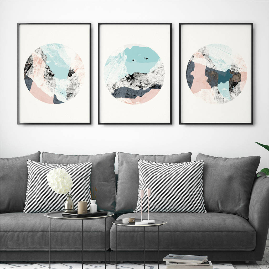 Best ideas about Wall Art Prints . Save or Pin set of three abstract wall art prints by bronagh kennedy Now.