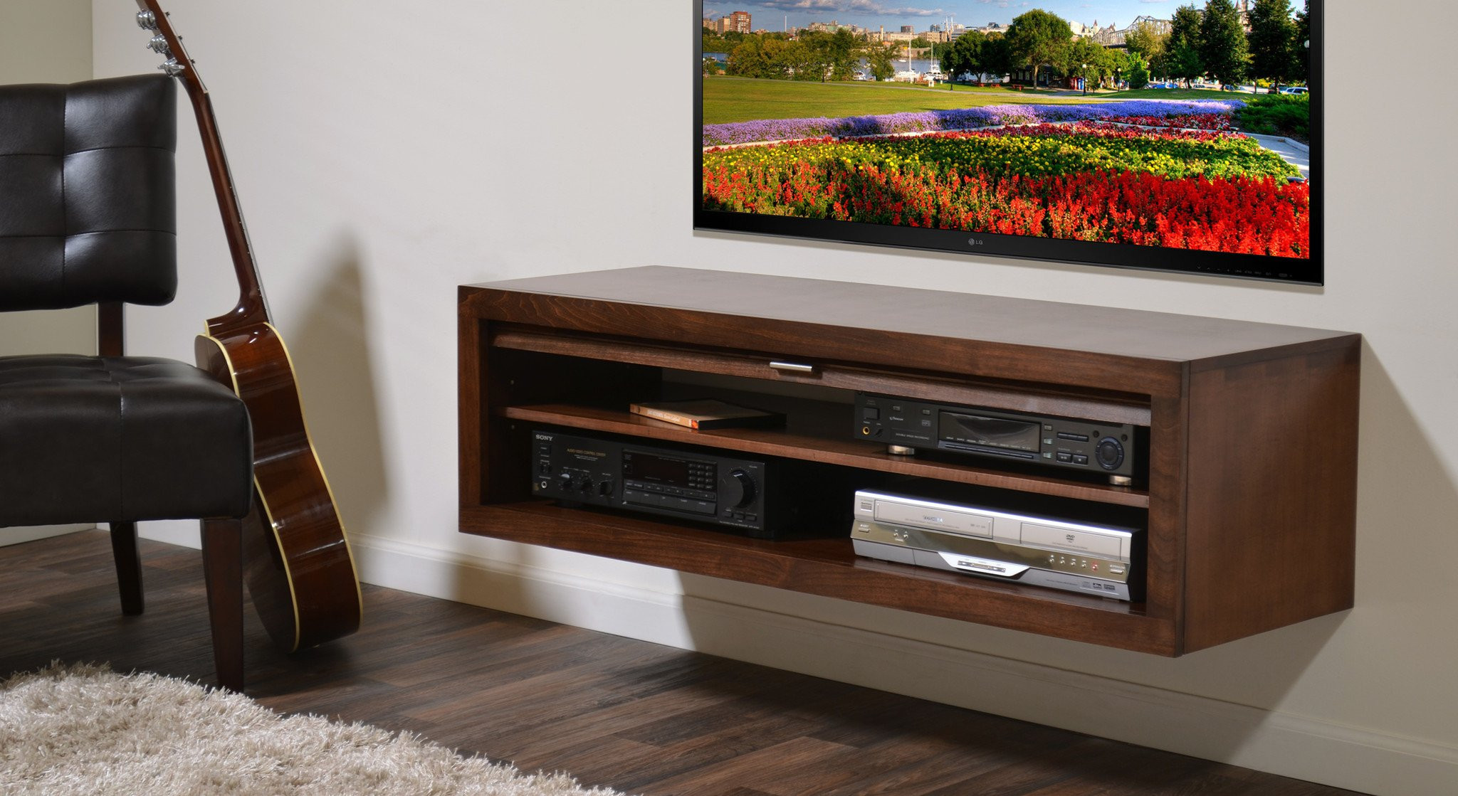 Best ideas about Wall Mount Tv Stand . Save or Pin Floating TV Stand ECO GEO Mocha Woodwaves Now.