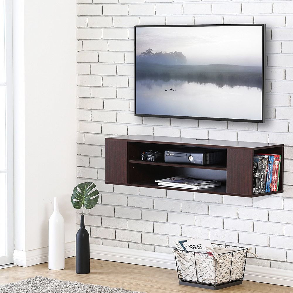 Best ideas about Wall Mount Tv Stand . Save or Pin Wall Mount TV Stand Floating Media Console Storage video Now.
