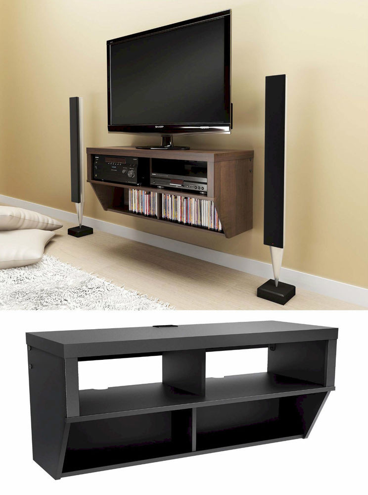 "Best ideas about Wall Mount Tv Stand . Save or Pin 42"" Wall Mounted Entertainment Console LCD LED TV Stand w Now."