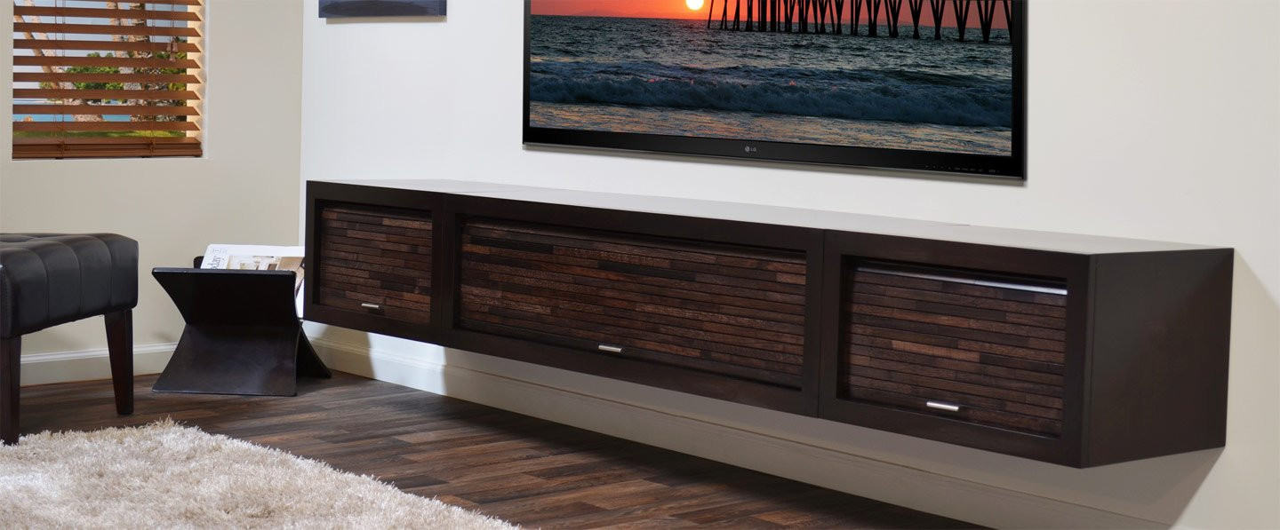 Best ideas about Wall Mount Tv Stand . Save or Pin Wall Mounted Floating TV Stands Woodwaves Now.