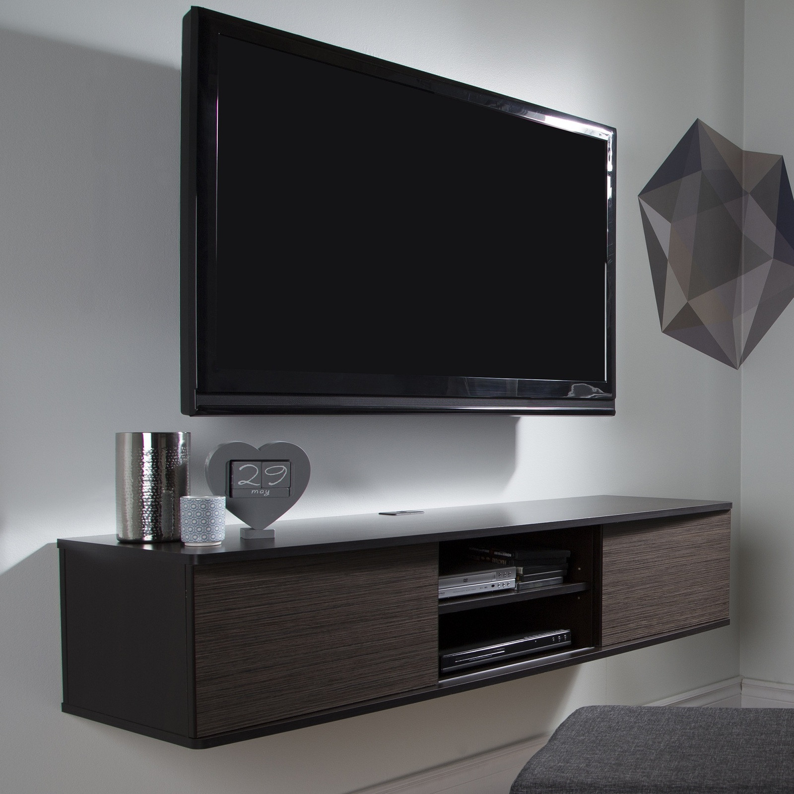 Best ideas about Wall Mount Tv Stand . Save or Pin Wall Mount TV Stand Media Console Center and similar items Now.