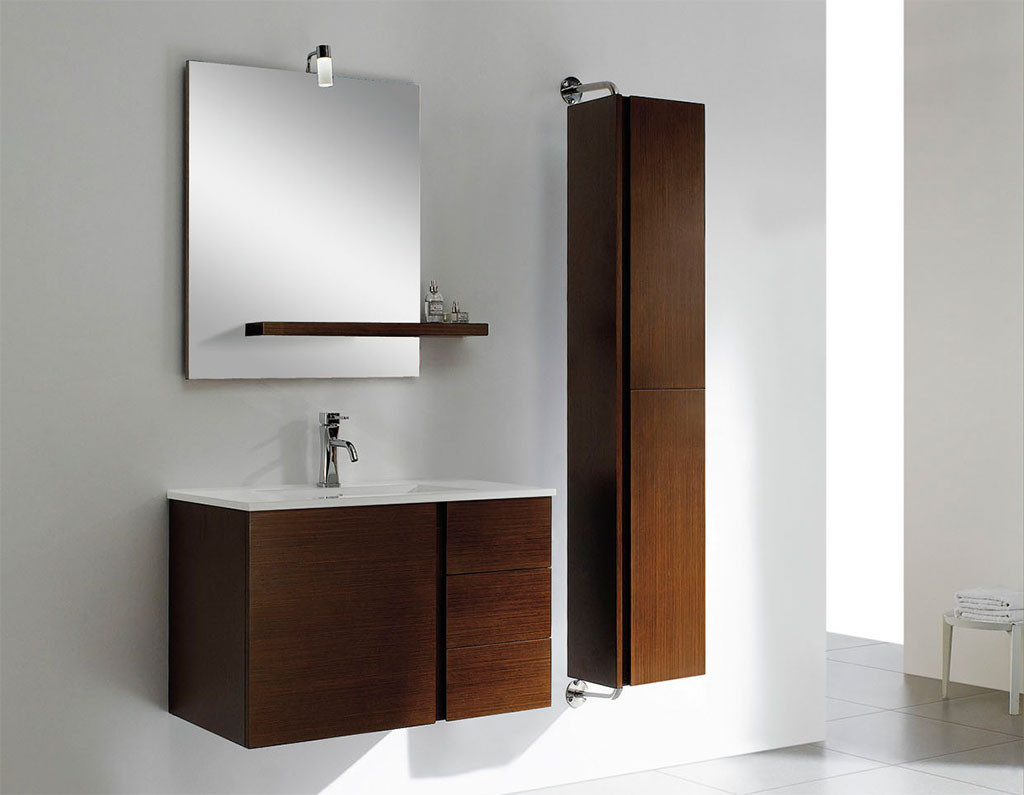 Best ideas about Wall Mounted Bathroom Cabinets . Save or Pin Maximizing Small Bathroom Spaces Using Wood Wall Tall Now.