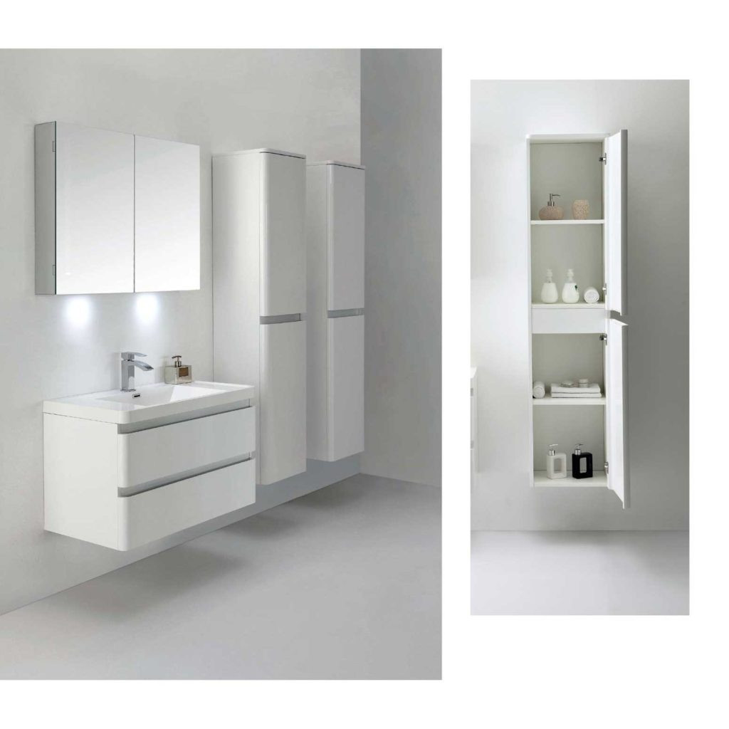 Best ideas about Wall Mounted Bathroom Cabinets . Save or Pin white wall mounted bathroom cabinets Now.