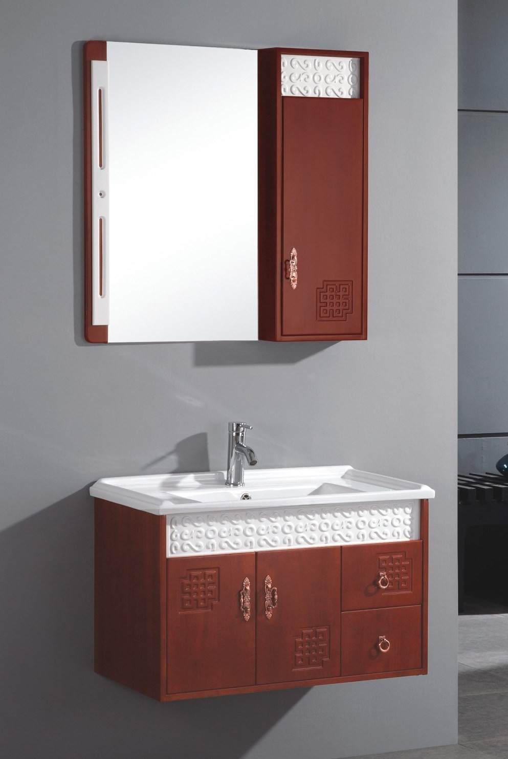 Best ideas about Wall Mounted Bathroom Cabinets . Save or Pin China Wall Mounted Single Sink Wooden Bathrooom Vanity Now.