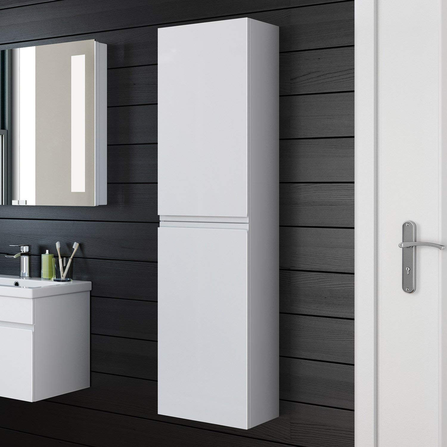 Best ideas about Wall Mounted Bathroom Cabinets . Save or Pin Wall Mounted Bathroom Cabinets White Gloss – Cabinets Matttroy Now.