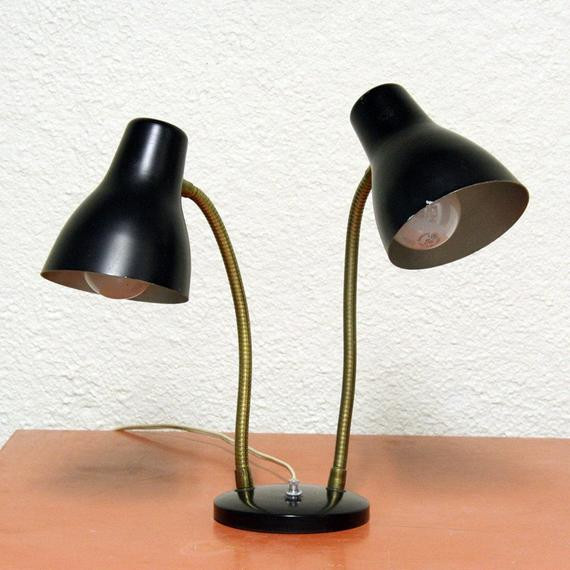 Best ideas about Wall Mounted Desk Lamps . Save or Pin Vintage desk lamp task light double gooseneck wall mount Now.