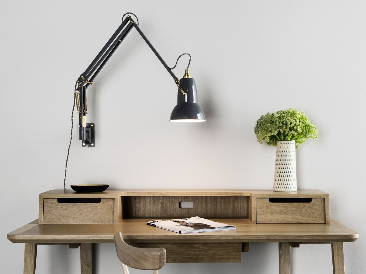 Best ideas about Wall Mounted Desk Lamps . Save or Pin Buy the Anglepoise Original 1227 Brass Wall Mounted Lamp Now.