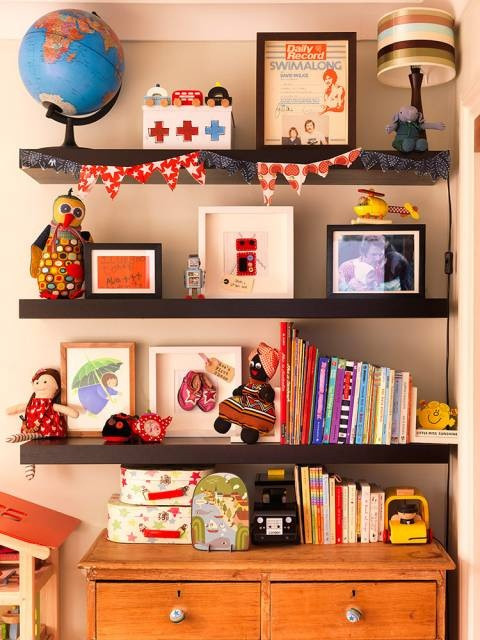 Best ideas about Wall Shelves For Kids Room . Save or Pin Shelves Great Wall Decoration Kids Room Ideas Pinterest Now.