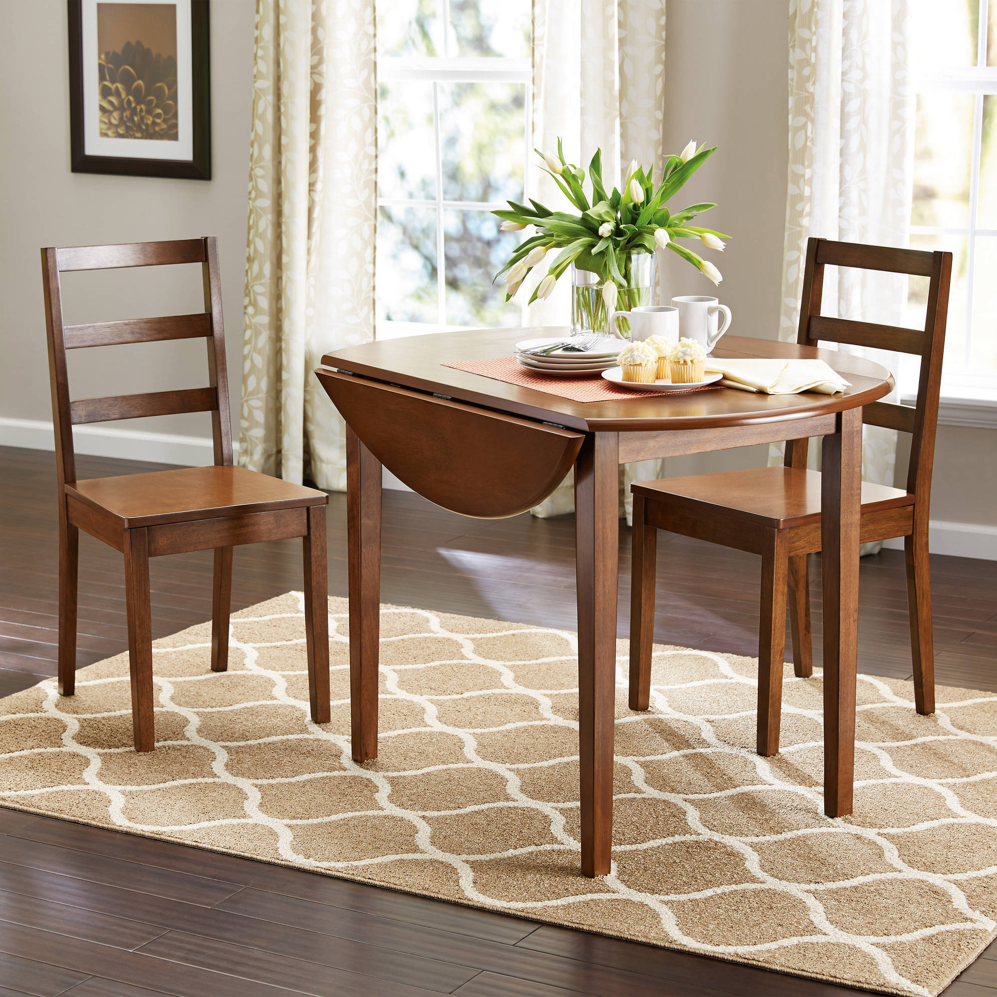Best ideas about Walmart Dining Table Set . Save or Pin 50 Walmart Dining Table Set Walnut Counter Height Walnut Now.