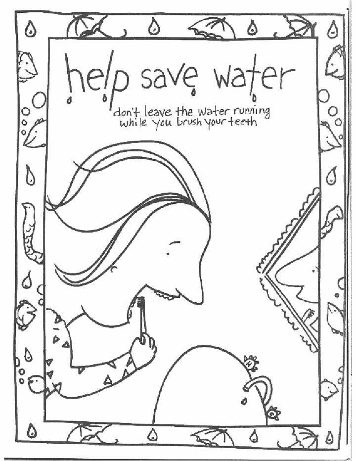 Water Coloring Books For Toddlers  Tap Water Coloring Page Coloring Pages